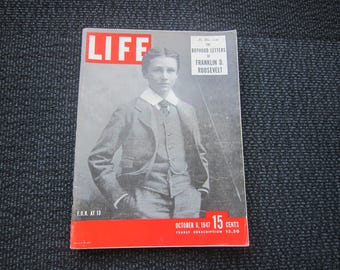 Life Magazine October 6, 1947 - Franklin D. Roosevelt story