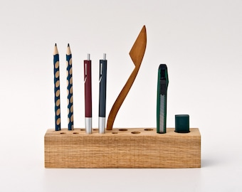Office Organizer, Pen Holder, Pencil Holder, Desk Organizer Wood JACOB