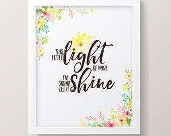 Printable Nursery Art, Jesus Loves Me Wall Art Instant Download, Girls Room Decor, Inspirational Christian Picture for Children's Room,