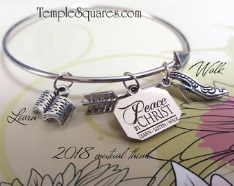 YW 2018 Peace In Christ Charm Bracelets Young Women  Jewelry Charms New Beginnings gifts, birthday gift missionary LDS jewelry