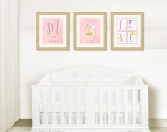 BEAUTIFUL Nursery Wall Art, Girl Nursery Room, Watercolor Fairy, Butterflies, Wall Decor, Instant Download, Fairy Wall Art, Digital Wall Art