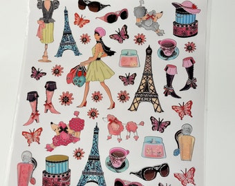Paris Foil Stickers for Planner and More
