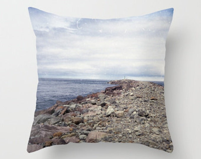 Beach Throw Pillow Cover Includes Pillow Insert - Rockaway Beach - Oregon - Sofa Pillow - Bed Throw Pillow - Beach Photo - Made to Order