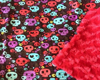 Skull Girl Baby Blanket Goth Punk Rocker