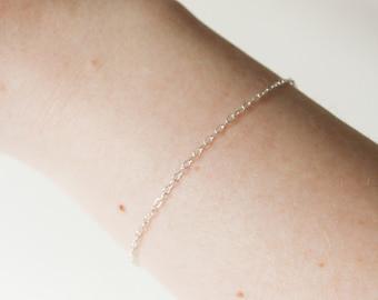 Sterling Silver Chain Bracelet, Silver Bracelet, Delicate Silver Bracelet, Minimalist Jewelry, Sterling Silver Bracelet, Silver Chain