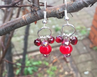 Reduced: Christmas berry earrings