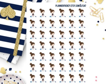 42 Ella Vacuuming/Cleaning Planner Stickers! LF247