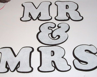 Eco Felt MR & MRS - Shadow Lettering