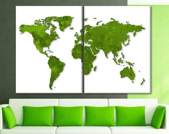 Wooden map Large world map poster Split art World map canvas personalize Map canvas wall art Map of the world for wall World map stretched