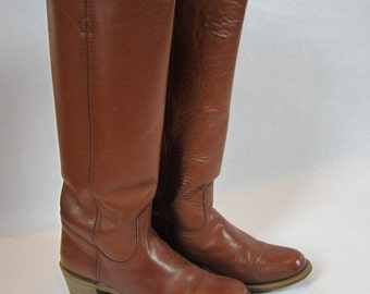 REDUCED Frye American Classics Campus Riding Boot in Cognac