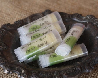 Natural Lip Butter, French Vanilla Flavor-Extra Healing/Moisturizing Lip Balm, made with OG Flavor, by Green Bubble Gorgeous on Etsy
