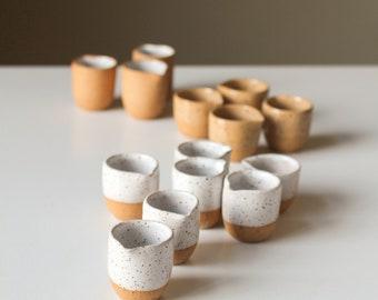 Mini Speckled Ceramic Pitcher/Pourer/Creamer - Tiny Handmade Pottery - Milk/Cream/Syrup/Coffee/Tea - Cafe/Coffee Shop - Modern Cute