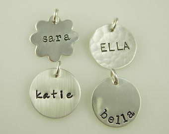 Hand Stamped Jewelry - Name Charms - Name Tags - Name Pendants