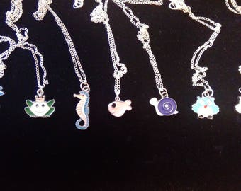 Necklace - Different Critters (your choice), silver tone