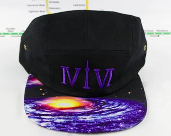 "Outta This World! Cosmically Cool 5 Panel Hats! Roman Numerals Stand For ""416"", With The ""1"" Resembling The CN Tower! Outer Space, Cosmic!"
