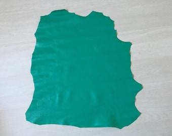 Green water color 100% leather pieces