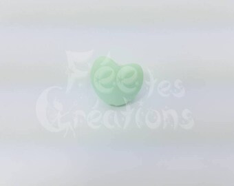 Heart (Mint) silicone pacifier, rattle etc.