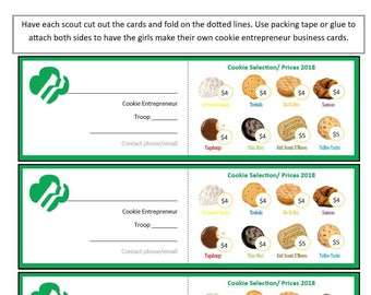 Cookie dealer girl scout cookie cotton tote bag girl scout cookie program business cards 45 pricing colourmoves