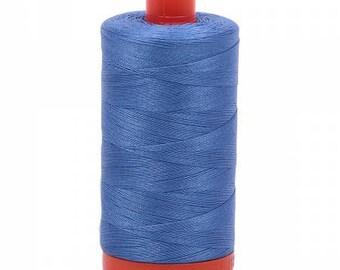 Light Blue Violet Aurifil Mako Cotton Thread Color 1128, 50 wt, 1300m, 1 spool