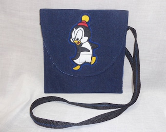 These Character Designed Denim purses will compliment outfits with fun memories of sat  morning cartoons. Chilly Willie and Sylvester Design