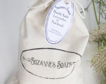 CLEARANCE-- Lavender Patchouli Bath Salt - Mineral Soak, Dead Sea Salt, Epsom Salt, 1 Cup, Foot Soak