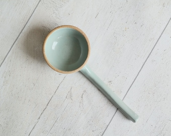 Ceramic Coffee Scoop - Hand thrown Pottery Scoop - Duck Egg Blue