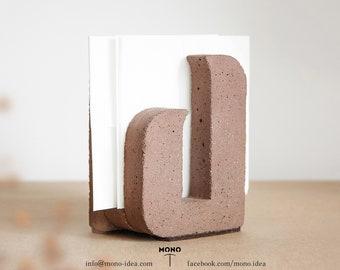 Brown Concrete Napkin stand Beton Smooth Cement Industrial Scandinavian Minimalist