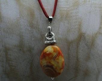 Beautiful talisman of natural stone and Bhudda