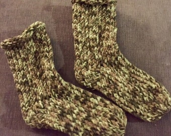 Double thick knitted socks