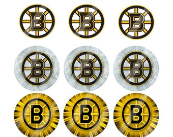 Boston Bruins 1in bottle cap images 1 sheet