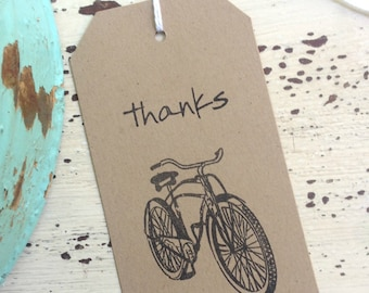 Bicycle Thanks Tags / Favor Tags / Birthday