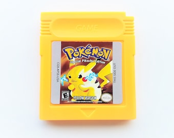 Pokemon Yellow Pikachu Edition - Nintendo Gameboy Color - Retro Reproduction Cartridge