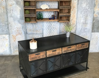 Kitchen Island or POS Stand - Custom Made furniture  - Industrial Iron