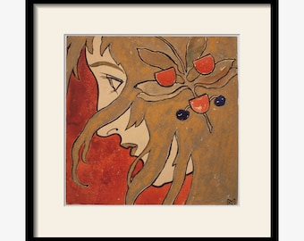 Vintage Art Nouveau illustration by Kolo Moser