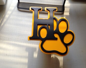 Husky Pride hitch cover. Made to order chose your school colors and mascot.