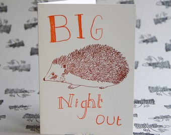 Big Night Out Letterpress Card