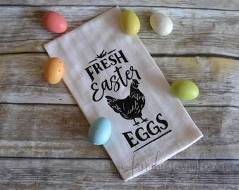 Farmhouse Easter Towel~Flour Sack Towel~Rae Dunn Inspired~Farmhouse Decor~ Kitchen