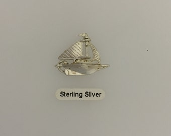 Sailing Ship - Sterling Silver Charm