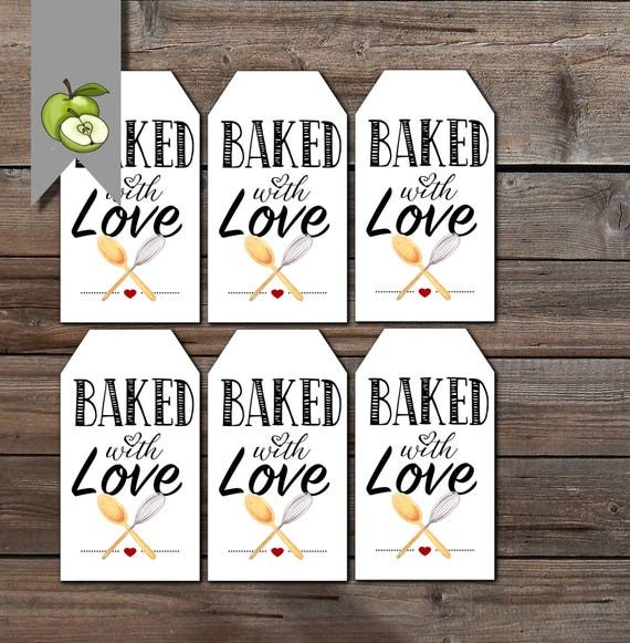 Baked With Love Appreciation Gift Tag Thank You Gift Tag
