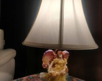 Sculptured Angel Lamp