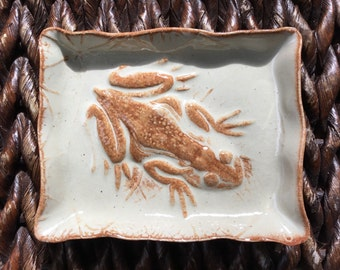 Ceramic Frog Soap Dish or Trinket Dish Handmade Pottery