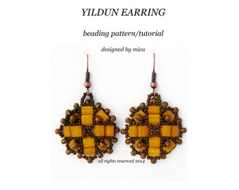 Yildum Earring - Beading Pattern/Tutorial - PDF file personal use only