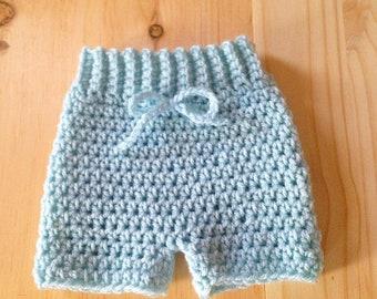 Newborn baby shorts, baby photo prop, newborn baby prop, baby shorties, knit baby shorts, crochet baby shorts, newborn boy prop