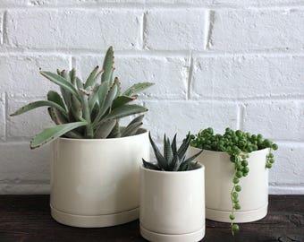 Tabletop Planter in White