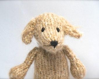 Golden Retriever Stuffed Animal, Knit Toy Dog, Toy Stuffed Dog, Puppy Nursery Decor, Pet Portrait, Dog Portraiture, Knit Puppy, Dog Softie