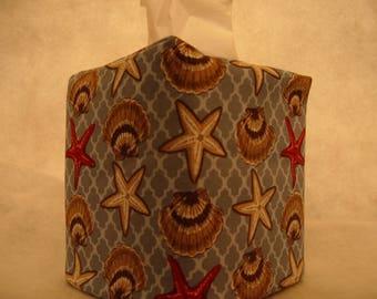 Tissue box covers - Beach shells