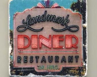 Landmark Diner in Atlanta, Georgia - Original Coaster