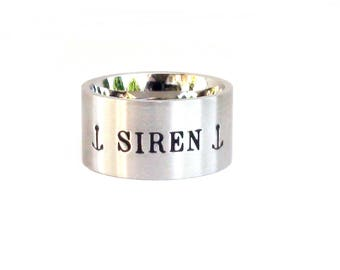 Siren Ring Jewelry Inspirational Ring Stainless Steel Quote Ring