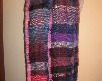 Purple luciouse, pink winter scarf