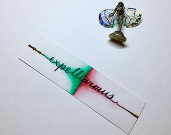 Hand Painted Expelliarmus Bookmark | Harry Potter